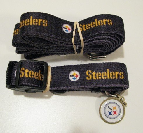 Pittsburgh Steelers Pet Accessories Set - Small (6' Leash, Collar, and ID Tag)