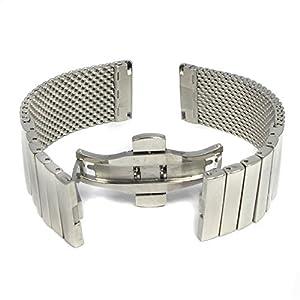 MapofBeauty venda del reloj de la correa de Broche de Plata Moda de malla de acero inoxidable de la pulsera marca MapofBeauty