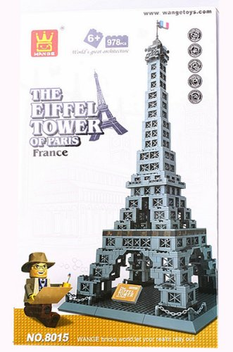 The Eiffel Tower of Paris Building Block Bricks Architecture Toys K0057-1
