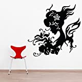 Decal Style Women Swirls Wall Sticker Large Size-21*21 Inch