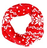 Simplicity Kids Infinity Neck Warmer in Soft Knitted Wool, Xmas Pattern