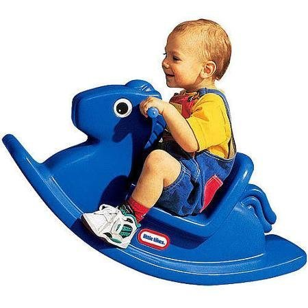 Little Tikes Rocking Horse, Primary Blue, Easy-Grip Handles and Smoothly Rounded Design