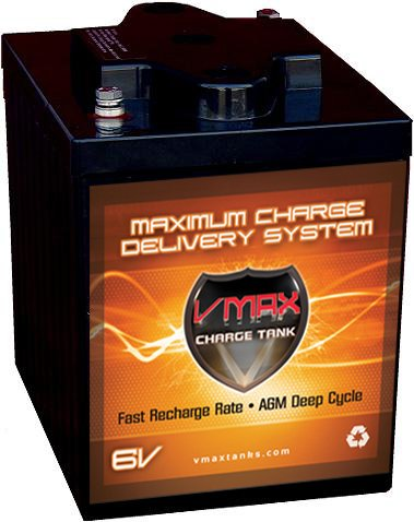 Vmax6-225 Gc2 Agm Deep Cycle Battery Replacement For E-Z-Go Txt 6V 225Ah Golf Cart Battery