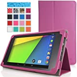 Google New Nexus 7 FHD 2nd Gen Case - MoKo Slim Folding Cover Case for Google Nexus 2 7.0 Inch 2013 Generation Android 4.3 Tablet, PURPLE (with Smart Cover Auto Wake / Sleep Feature)