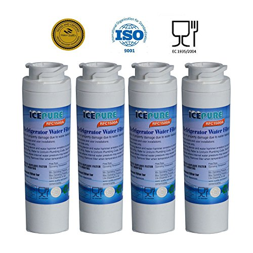 4 - Pack IcePure Water Filter to Replace GE, Hotpoint, Kenmore, Maytag, Jenn-Air, GE MSWF, MSWF3PK, MSWFDS, 101820A, 101821-B, 101821B, 238C2334P003, AP3997949, PC46783, PS1559689, WR02X12345, WR02X12801, RWF1062, WF-282, WF282, WSG-3. (Ge Water Filter Pack compare prices)