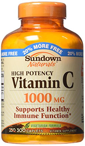 Sundown Naturals Vitamin C, 1000 Mg, High Potency, 250 Count Bottles (Sundown Vitamin C 1000 compare prices)