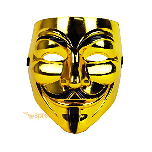 [V for Vendetta Face Mask Guy Fawkes Anonymous Cosplay Masquerade Protest Costume] (Alice In Wonderland Halloween Costumes Ebay)