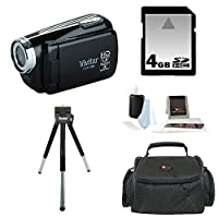 Vivitar DVR508 High Definition Digital Video Camcorder in Black + 4GB Accessory Kit by Vivitar
