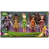 Disney Fairies Mini Doll Set - Legend of the Neverbeast - Tinker Bell Rosetta Iridessa Vidia Fawn