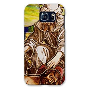 ArtzFolio Jesus And The Sick : Samsung Galaxy S6 Matte Polycarbonate Original Branded Mobile Cell Phone Designer Hard Shockproof Protective Back Case Cover Protector
