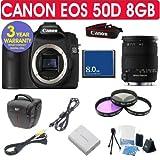 Canon EOS 50D + Sigma 18-200mm OS Lens + 8GB Memory