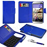 Samsung Galaxy Ace 3 Blue PU LEATHER SUCTION WALLET CASE AND RETRACTABLE STYLUS PEN Case In Your Face®