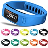 Snapsity© Set of 10 Multi-Color Replacement Wrist Bands For Garmin Vivofit With Clasps - Fitness Tracker Wristbands