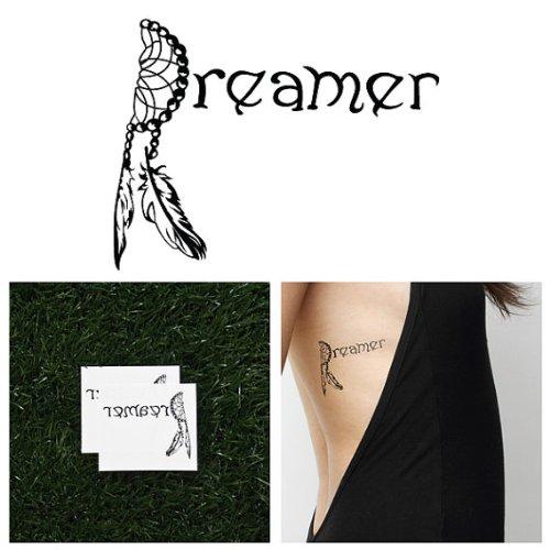 Tattify Dreamcatcher Temporary Tattoo - Daydreamer (Set of 2)