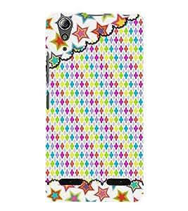Plus Stars Girly Pattern 3D Hard Polycarbonate Designer Back Case Cover for Lenovo A6000 Plus