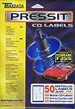 Traxdata pRLAB mET pressIt cD labels métallique lot de 50