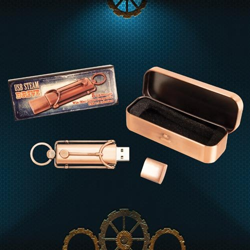 Steampunk USB Flash Drive - Copper Finish