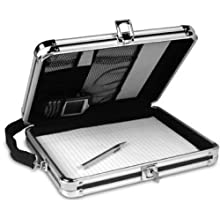 Vaultz Locking Storage Clipboard with Key Lock, 8 .5 x 11 Inches, Black (VZ01391)