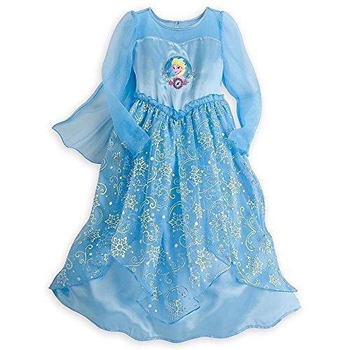 disney store frozen elsa fancy silk girls nightgown in
