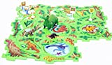 Perfect Life Idea Dinosaur Vehicle Puzzle Track Play Set - Battery Operated Toy Themed Style Vehicle Runs on Interchangeable Puzzle Tracks - Make up to 50 Track Combinations