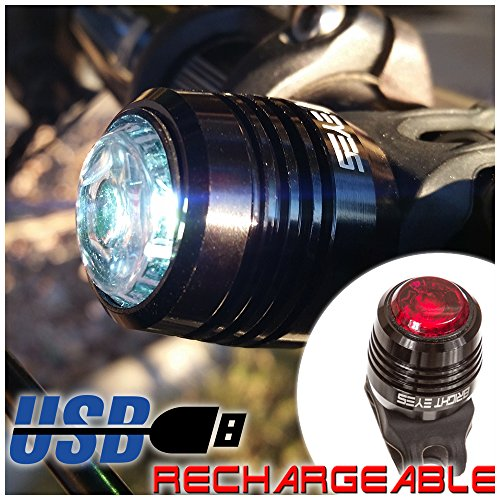 Bright Eyes USB Rechargeable Bike Lights Headlight And