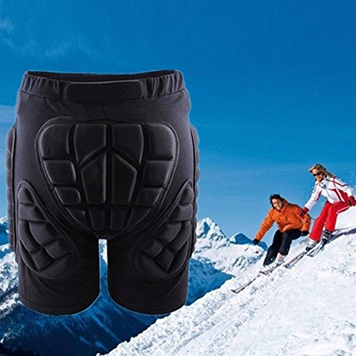 Best Price! CAMTOA Protection Drop Resistance Roller Compression Shorts Pants Padded Short Protectiv...