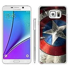 buy Brand New Custom Captain America Shield Samsung Galaxy Note 5 White Case