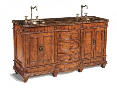 Legion Furniture P5408-03A Double Sink Chest Bathroom Vanity