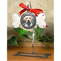 Dog Bone Photo Ornament and Metal Display Stand