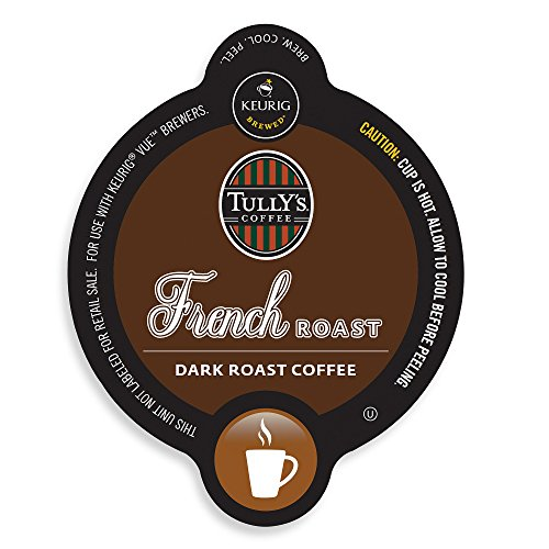 16 Count, Tully'S French Roast Vue Packs For Keurig Vue Brewers (1 - 16 Ct Vue Pack)