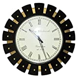HND00442 Ethnically Designed Home Decorative Indian Lalhaveli Wooden Wall Clock
