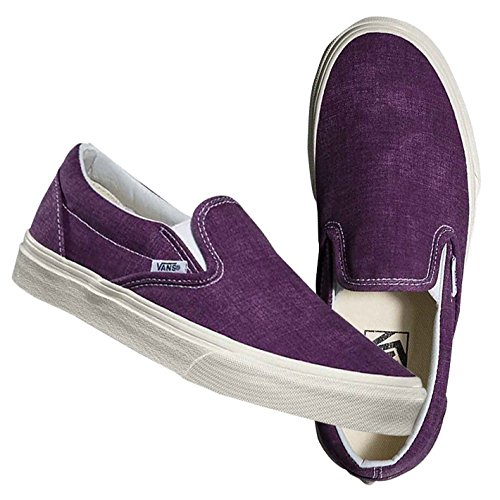 (バンズ) VANS CLASSIC SLIP-ON (Washed) Plum Purple スリッポン スニーカー VN-0ZMRFR6 9.0(27.0)