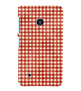 Red Checks Pattern 3D Hard Polycarbonate Designer Back Case Cover for Nokia Lumia 530 :: Microsoft Lumia 530
