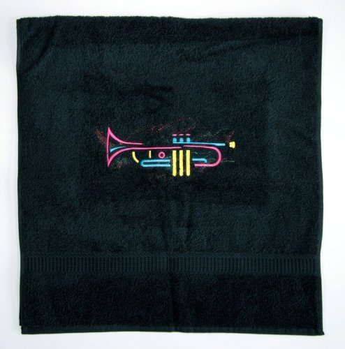 Handtuch-mit-Trompeten-Motiv-schnes-Geschenk-fr-Trompeter