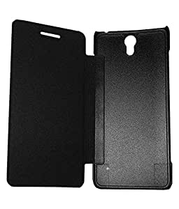 SDO Classy Genuine Style Durable Flip Flap Case Cover for Lenovo Vibe S1 - Black + Micro USB OTG Cable + Touch Screen Pen Style Stylus Combo Set