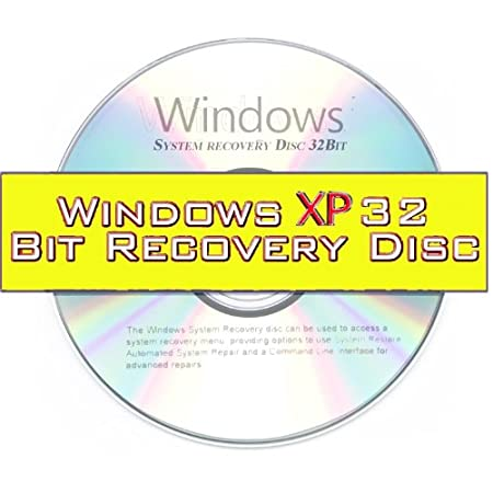 Windows XP System Recovery disk Live Boot CD 32 bit DVD. (Disc is comparable with Home Basic, Home Premium, Business, and Ultimate)