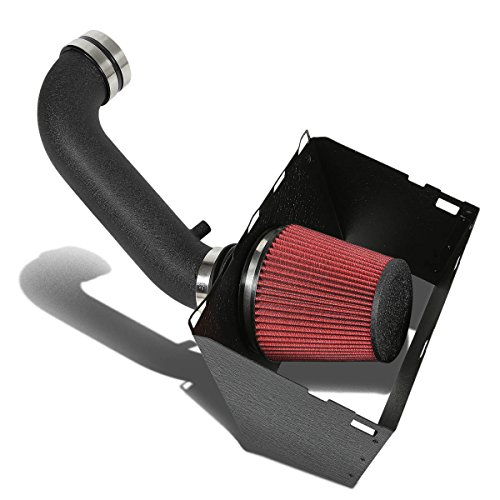 DNA Motoring AIP2HSRAM0957BKBK Cold Air Intake Pipe+Heat Shield System (09 Dodge Ram 1500 Air Intake compare prices)