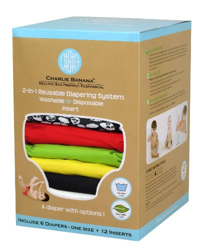 Charlie Banana 2-In-1 Reusable Diapers, Zooloo front-540734