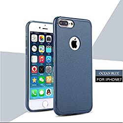 iPhone 7 Case, Laprite Slim Premium Matte Design Anti Dropping TPU Protection Back Cover for iPhone 7 ( Plain, Ocean Blue )