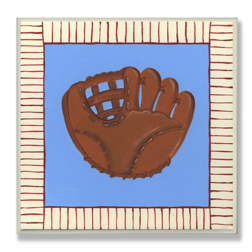 The Kids Room by Stupell Little Slugger Baseball Glove Square Wall Plaque - 1
