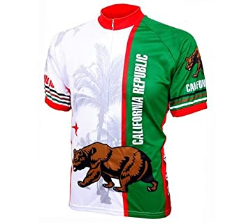 World Jerseys Mens California Republic Cycling Jersey by World Jerseys