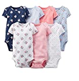 Carter's Baby Girls 7 Pack Floral Bodysuits 3-24 months
