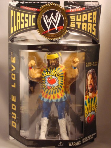 Buy Low Price Jakks Pacific WWE Classic Series 2 Dude Love Red Blue Wrist Bands Wrestling Figure (B001OFUA8W)
