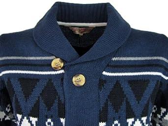 Mens Tokyo Laundry Fair Isle 'SnowMass' Button Cardigan Jumper [Medium]