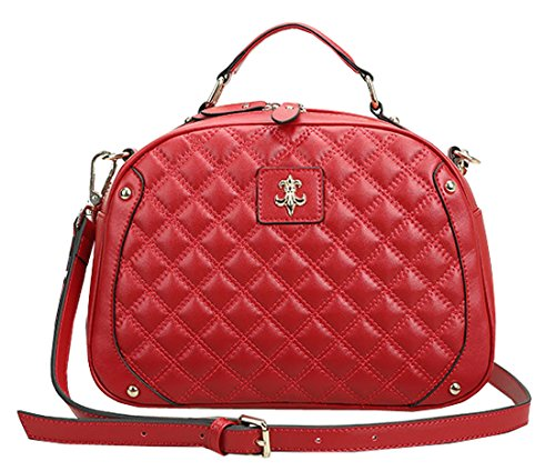 Heshe New Office Lady Genuine Leather Luxury Simple Style Fashion Ling Tote Top Handle Crossbody Shoulder Bag Hot Sell Satchel Purse Women's Handbag Candy Color for Summmer
