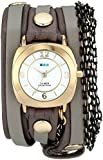 La Mer Collections Women's LMMULTICW2001 Wrap Collection Gold-Tone Watch with Wraparound Leather Band