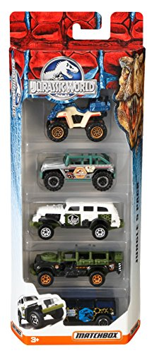 mattel-matchbox-dfw16-set-di-macchinine-jurassic-world-5-pz-colori-assortiti