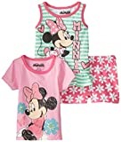 Disney Baby Girls'' 3 Piece Minnie Mouse Screenprint Short Set