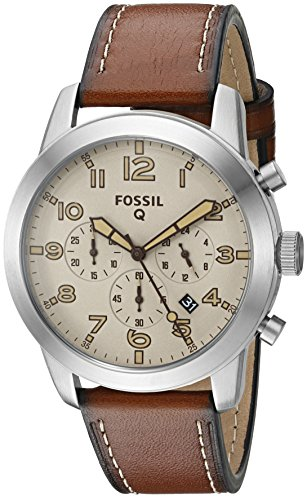 Fossil-Q-Pilot-Brown-Leather-Hybrid-Smartwatch