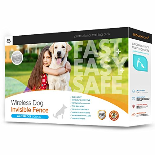 Secure-Pet Invisible Dog Fence with 2 Wireless Collars, Safe and Harmless Pet Containment System - Easy In-Ground Setup - Customizable...
